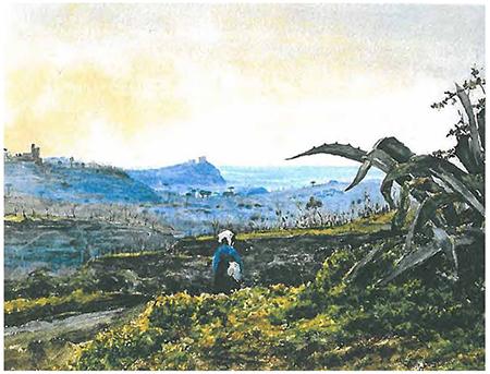 Vincenzo Montefusco, Nisida vista dal Vomero, 1872