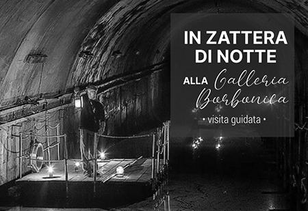 In Zattera di notte alla Galleria Borbonica