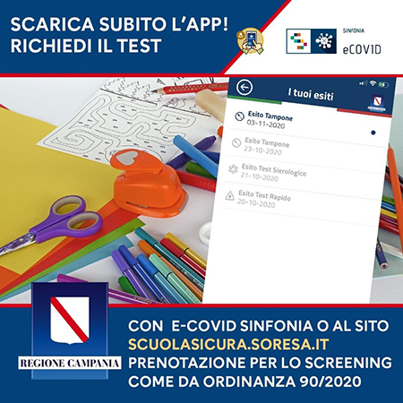 App e-Covid Sinfonia Regione Campania
