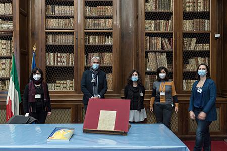 Biblioteca Nazionale Napoli con lettera autografa di Giacomo Leopardi