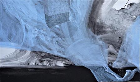 'Caduta di lago con scultura' di Salvatore Garau