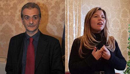 Carmine Piscopo e Alessandra Clemente