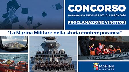 concorso nazionale a premi per Tesi di Laurea e di Dottorato 2020 proclamazione vincitori Marina Militare