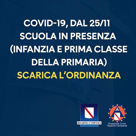 Covid-19 Campania, Ordinanza n.92 del 23 novembre 2020
