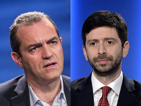 Luigi de Magistris e Roberto Speranza