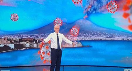 Massimo Giletti Non è l'arena Vesuvio
