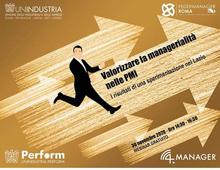 'Valorizzare la managerialità nelle PMI - I risultati di una sperimentazione nel Lazio'