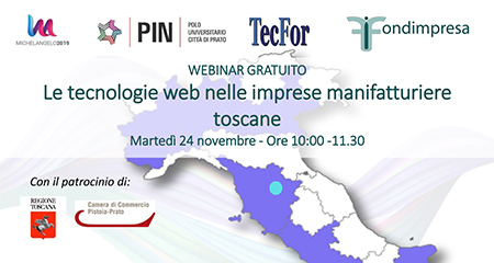Webinar 'Le tecnologie web nelle imprese manifatturiere toscane'
