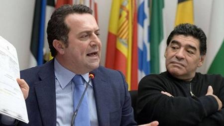 Angelo Pisani e Diego Armando Maradona