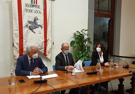 Eugenio Giani, Stefano Ciuoffo e Alessandra Nardini