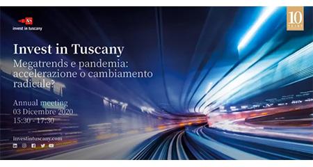 Invest in Tuscany Megatrends e pandemia: accelerazione o cambiamento radicale?