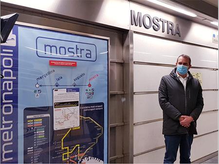 Luigi de Magistris alla Metro Napoli Linea 6 Stazione Mostra