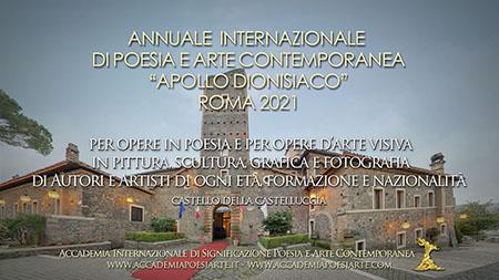 Annuale Internazionale di Poesia e Arte Apollo dionisiaco Roma 2021