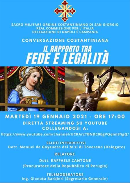 Conversazioni Costantiniane IV appuntamento - Il rapporto tra Fede e Legalità