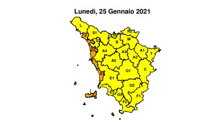 Regione Toscana codice arancione