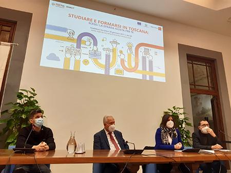 Studiare e formarsi in Toscana - Lorenzo Baglioni, Eugenio Giani, Alessandra Nardini e Paolo Baldi
