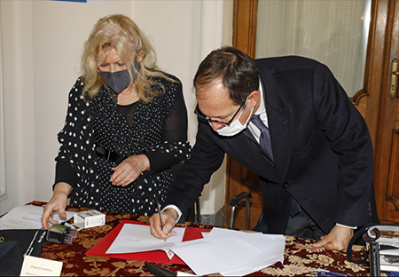 Angela Procaccini e Laurent Burin des Roziers