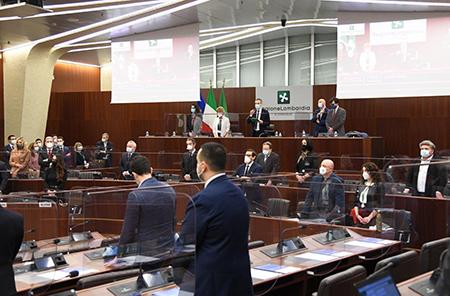 Consiglio regionale Lombardia commemorazione in Aula di Attanasio e Iacovacci