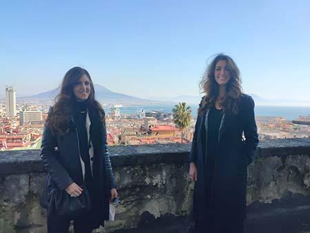 Le due neolaureate Unisob Fabiana Scala ed Alessia Pauciullo alla prima esperienza di lavoro grazie al progetto con il DAC