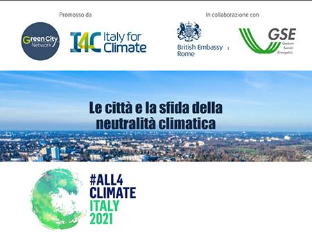 Le città e la sfida della neutralità climatica