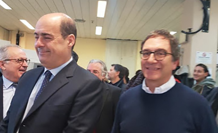 Nicola Zingaretti e Bruno Astore