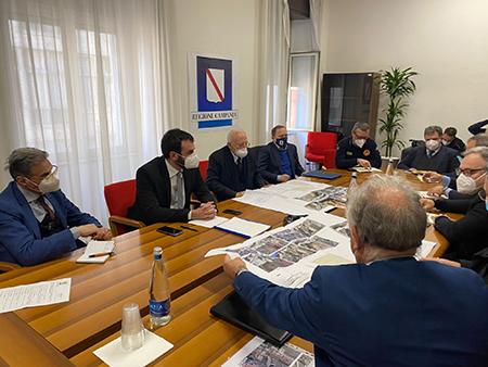 Riunione al Genio Civile di Salerno