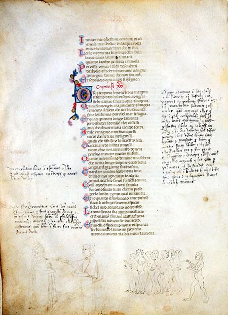 BNN Dante Alighieri, Divina Commedia Manoscritto membranaceo