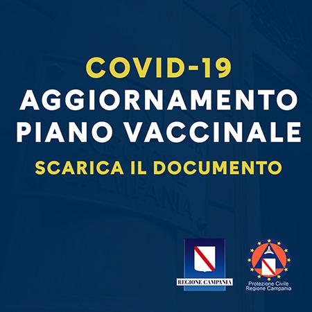 Covid-19 Campania, aggiornamento piano vaccinale