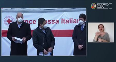 Inaugurazione Hub Stazione Termini - Nicola Zingaretti, Alessio D'Amato e Roberto Speranza