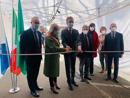 inaugurazione Hub vaccinale di Lurate Caccivio (CO)