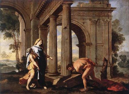 Teseo che ritrova le armi del padre - Nicolas Poussin