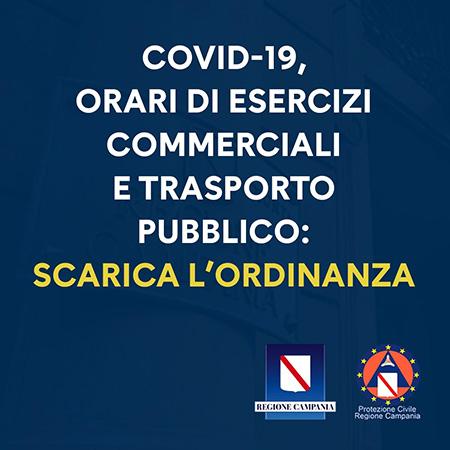 Ordinanza n.14 del 17 aprile 2021 Orari esercizi commerciali e trasporto pubblico
