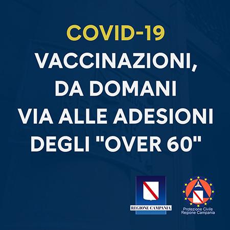 Covid-19 Campania vaccinazioni, via alle adesioni degli 'over 60'