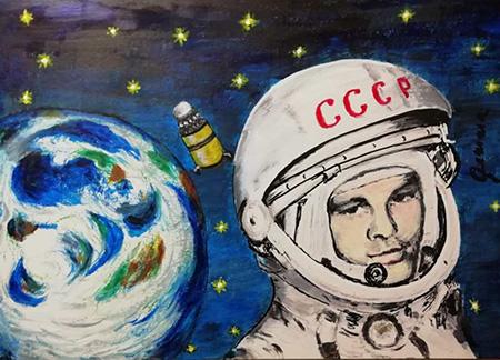 'Pojechali Jurij - Andiamo' - Locandina realizzata da Gemma Fanelli