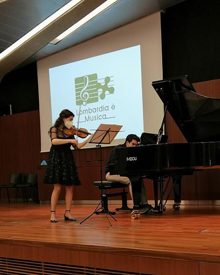 Sofia Manvati, vincitrice della sezione archi 'Lombardia è Musica'