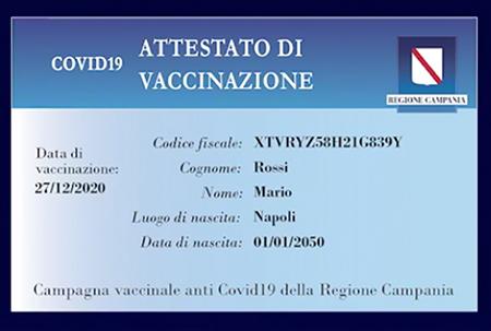 Tessera di vaccinazione
