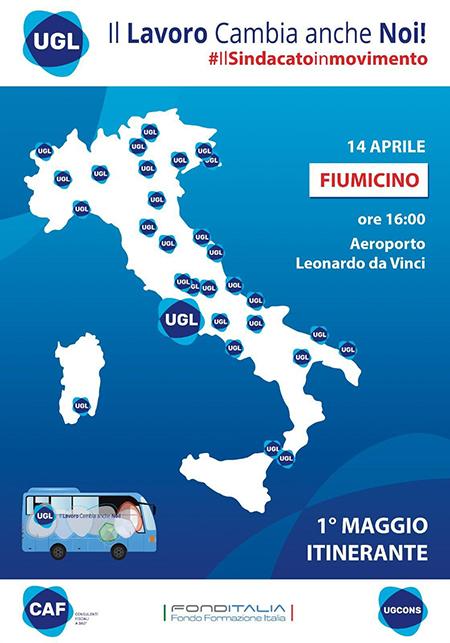 Tour UGL a Fiumicino (RM)