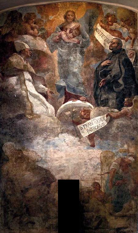 Affresco di Mattia Preti su Porta San Gennaro a Napoli