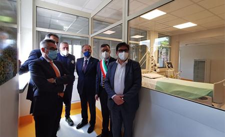 Alessio D'Amato all'Ospedale 'Parodi Delfino' di Colleferro (RM)
