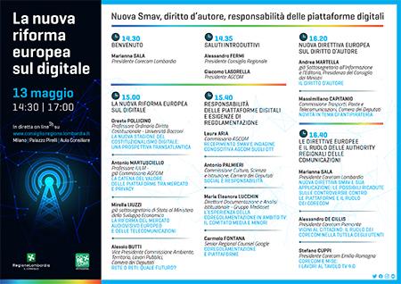 Il Corecom Lombardia fa il punto sul nuovo sistema UE dei media