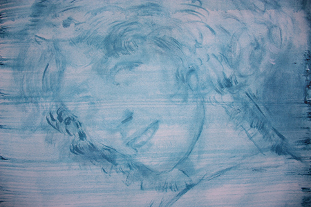 Elisa Filomena, 'Eden' a Casa Vuota, 2021, acrilico su tela, particolare