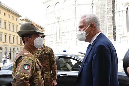 Francesco Paolo Figliuolo ed Eugenio Giani