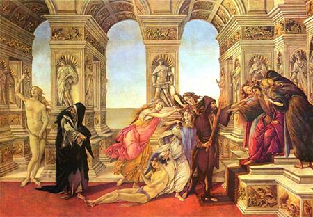 'La Calunnia di Apelle' di Sandro Botticelli