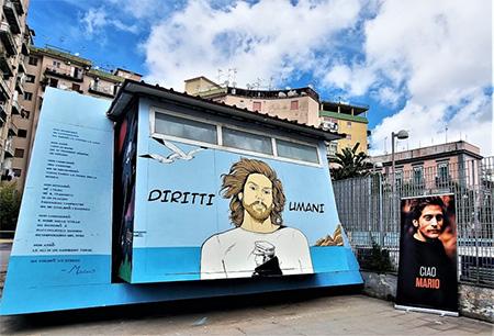 opera di creatività urbana dedicata a Mario Paciolla