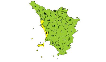 Regione Toscana codice giallo 17/05/2021