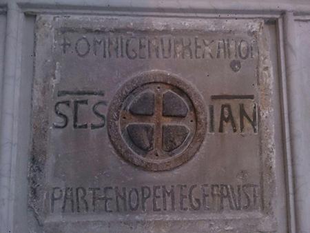 Tomba di Partenope nella Chiesa di San Giovanni a Mare a Napoli - foto Rosy Guastafierro