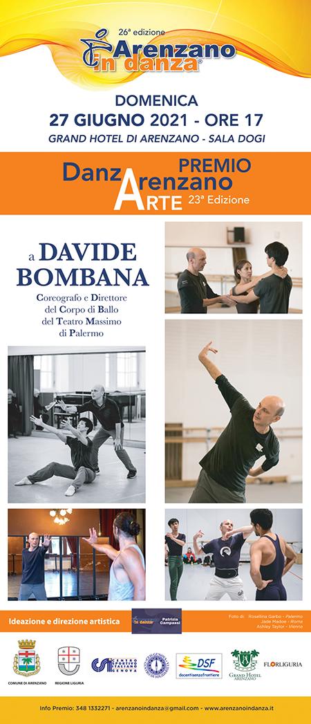 A Davide Bombana il Premio alla Carriera 'DanzArenzano Arte 2021'
