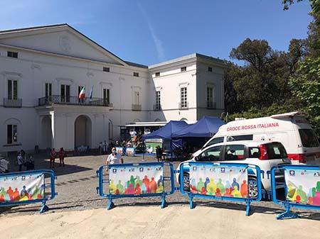 Campagna vaccinale Villa Floridiana a Napoli - Ph DR Musei Campania