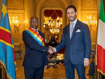 Félix Tshisekedi e Angelo Melone