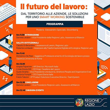 'Il futuro del lavoro: dal territorio alle aziende, le soluzioni per uno smart working sostenibile'